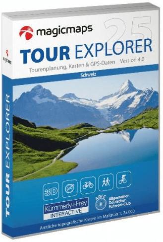 MagicMaps Tour Explorer 25 Tessin / Ticino Mitt...