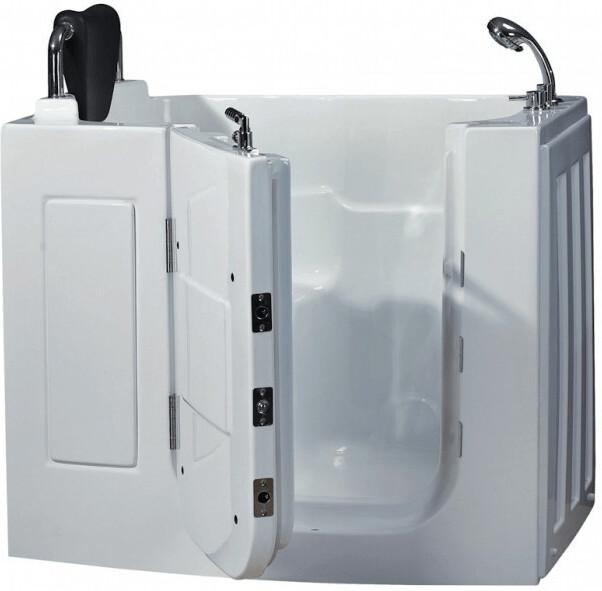 AcquaVapore Senioren-Sitzbadewanne A108 110 x 68 cm | Bad > Badewannen & Whirlpools > Sitzbadewannen | Weiß