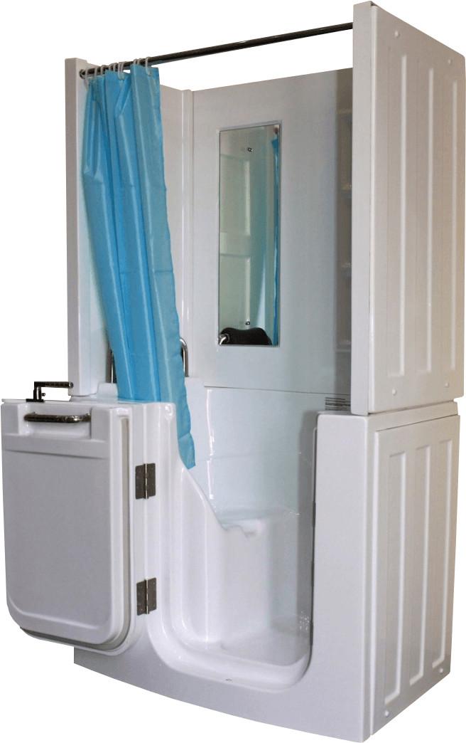 AcquaVapore Senioren-Sitzbadewanne A108D 110 x 68 cm | Bad > Badewannen & Whirlpools > Sitzbadewannen | Weiß