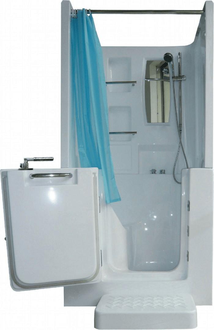 AcquaVapore Senioren-Sitzbadewanne A102D 100 x 78 cm | Bad > Badewannen & Whirlpools > Sitzbadewannen | Weiß