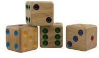 Holzwürfel 40 mm 4er Beutel (7005)