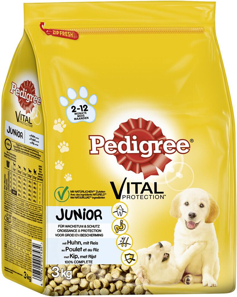 Pedigree Junior mit Huhn und Reis (3 kg)