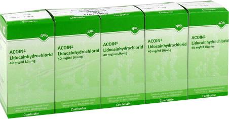 Acoin Lidocainhydrochlorid 40 mg/ml Lösung (5 x 50 ml)