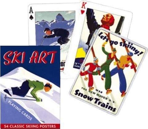 Spielkarten Ski Art