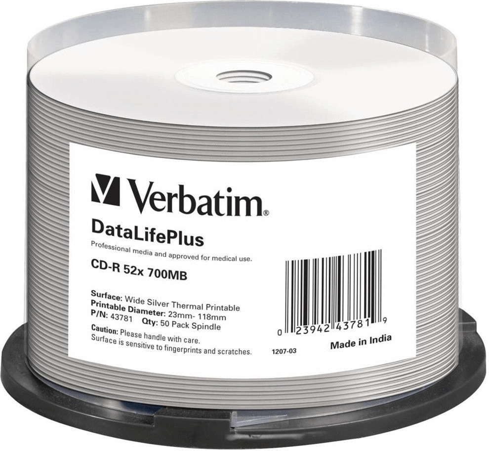 Verbatim CD-R bedruckbar 50er Cakebox