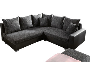 delife lavello 210x210cm grau schwarz couch mit hocker ab 616 55 preisvergleich bei. Black Bedroom Furniture Sets. Home Design Ideas