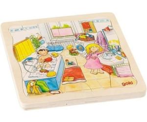 Goki Schichtenpuzzle Mein Tag