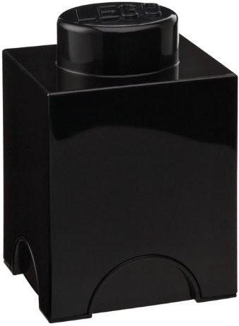 LEGO Aufbewahrungs-Box 1 x 1 (schwarz)