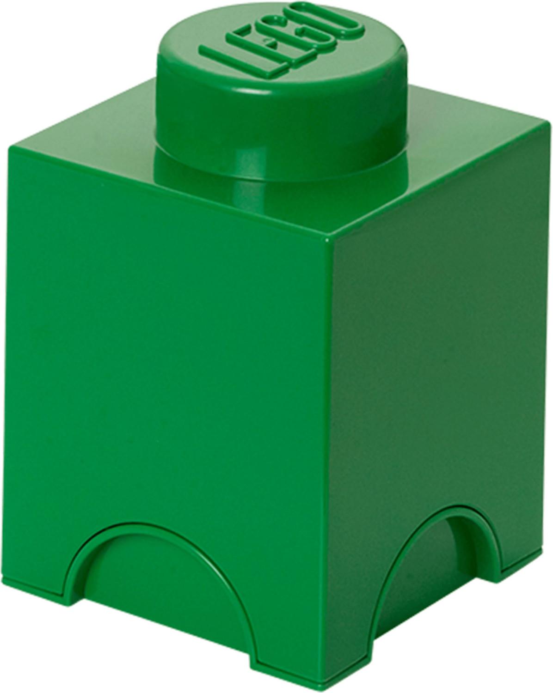 LEGO Aufbewahrungs-Box 1 x 1 (dunkelgrün)