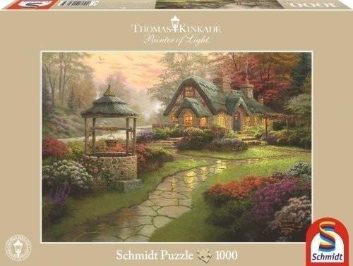 Schmidt-Spiele Thomas Kinkade - Haus mit Brunnen