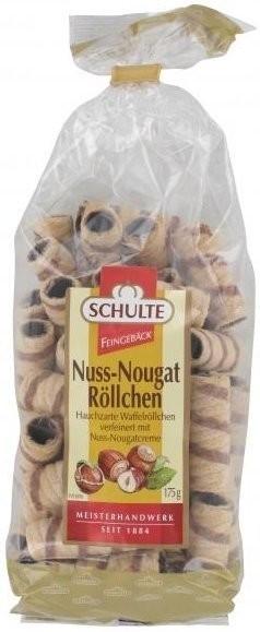 Schulte Waffelröllchen Nuss-Nougat (175 g)