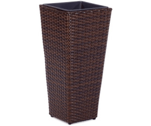 gartenfreude pflanzgef polyrattan eckig 28 x 28 x 60 cm ab 34 99 preisvergleich bei. Black Bedroom Furniture Sets. Home Design Ideas