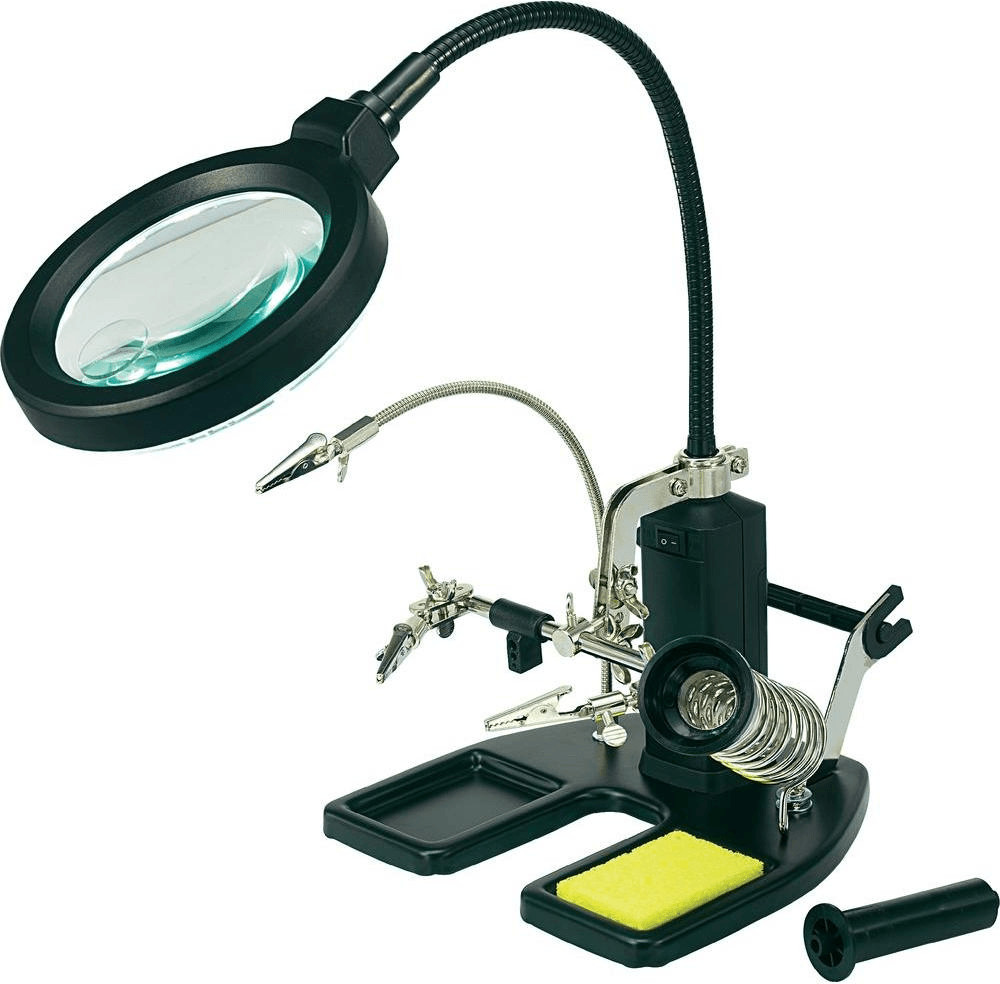 Toolcraft LED Lupenleuchte mit 3. Hand
