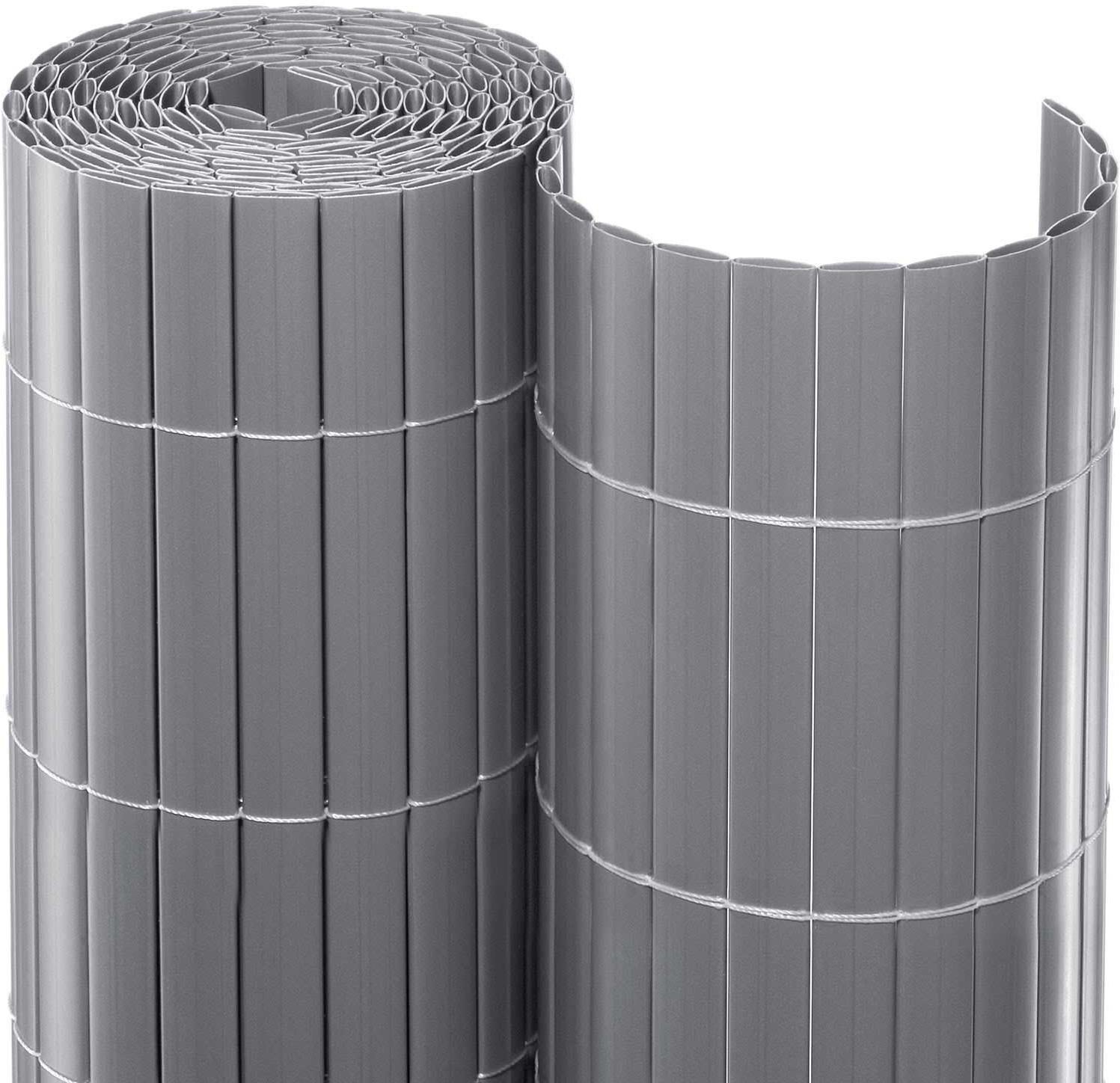 Noor Sichtschutzmatte PVC 100 x 300 cm silber