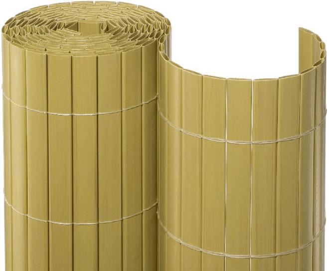 Noor Sichtschutzmatte PVC 120 x 300 cm bambus