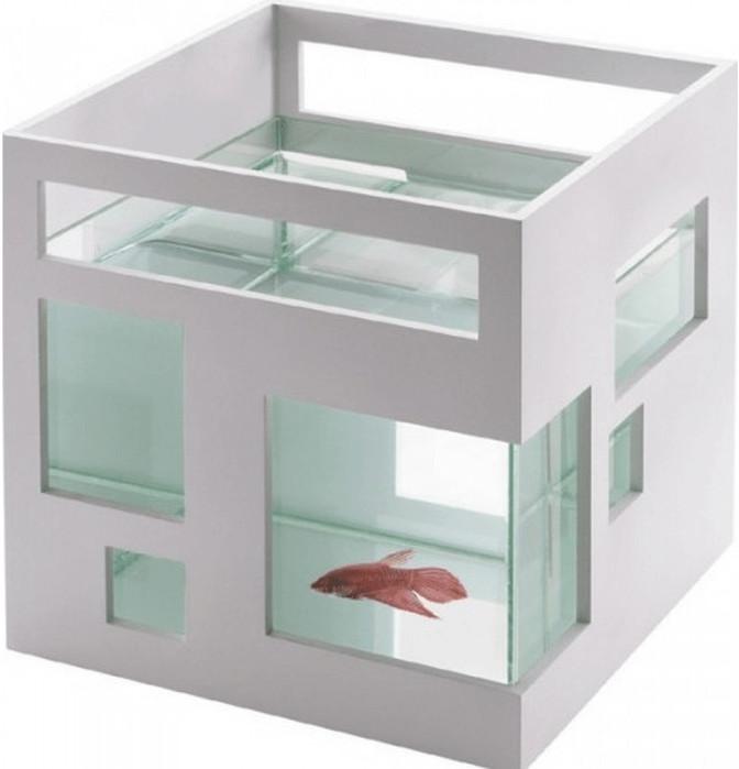 Umbra Fishhotel Aquarium - Weiß