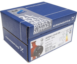 grundfos alpha2 l 25 40 180mm ab 121 96 preisvergleich bei. Black Bedroom Furniture Sets. Home Design Ideas
