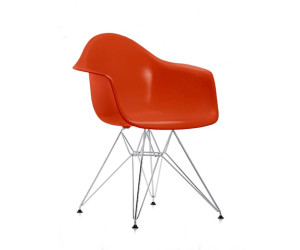 vitra eames plastic armchair dar poppy red ab 358 00 preisvergleich bei. Black Bedroom Furniture Sets. Home Design Ideas