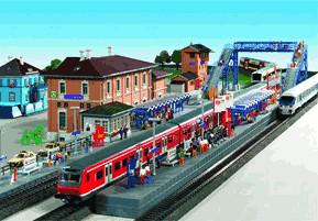 Kibri S-Bahn Station Bahnhof Wilhelmsbad (9357)