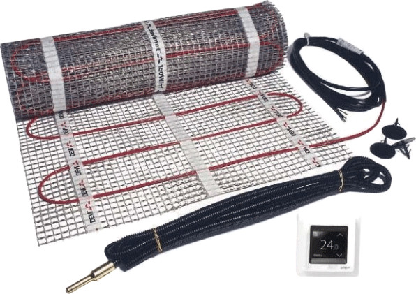 Devi Dünnbett-Set mit DEVIreg Touch 1-450 (150 ...