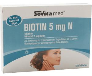 Ascopharm Sovita Biotin 5 Mg N Tabletten 150 Stk Ab 977