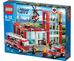 lego city la caserne des pompiers 60004 - Lego City Pompier