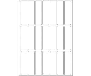 Vielzwecketiketten weiß 13x50 mm Papier matt 672 St.