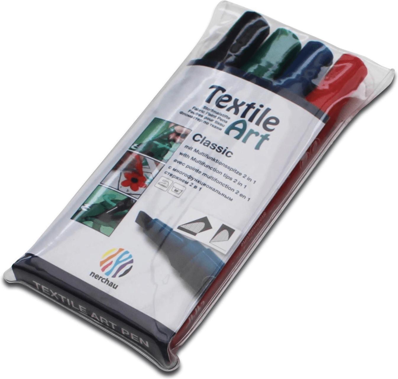Nerchau Textile Art Stoffmalstifte 4er-Set (140400)