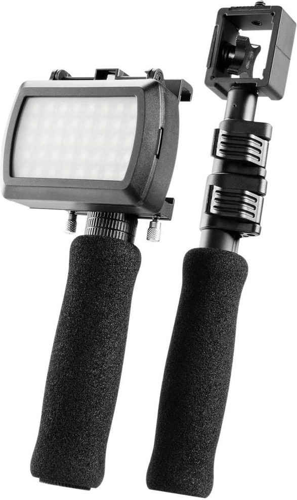 Walimex LED Dual Stativ für Apple iPhone 4/4S