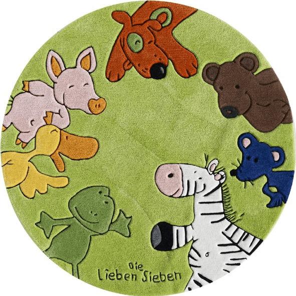 Böing Carpet Die Lieben Sieben ⌀130cm grün