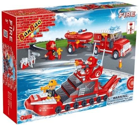 Banbao Feuerwehr - Feuerwehrwagen und Schiff (8...