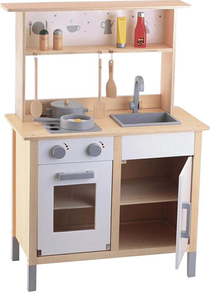 Beeboo Holz-Küche mit Aufsatz