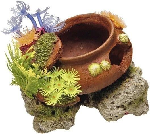 Nobby Aqua Ornaments Topf mit Pflanzen (16,5 x ...