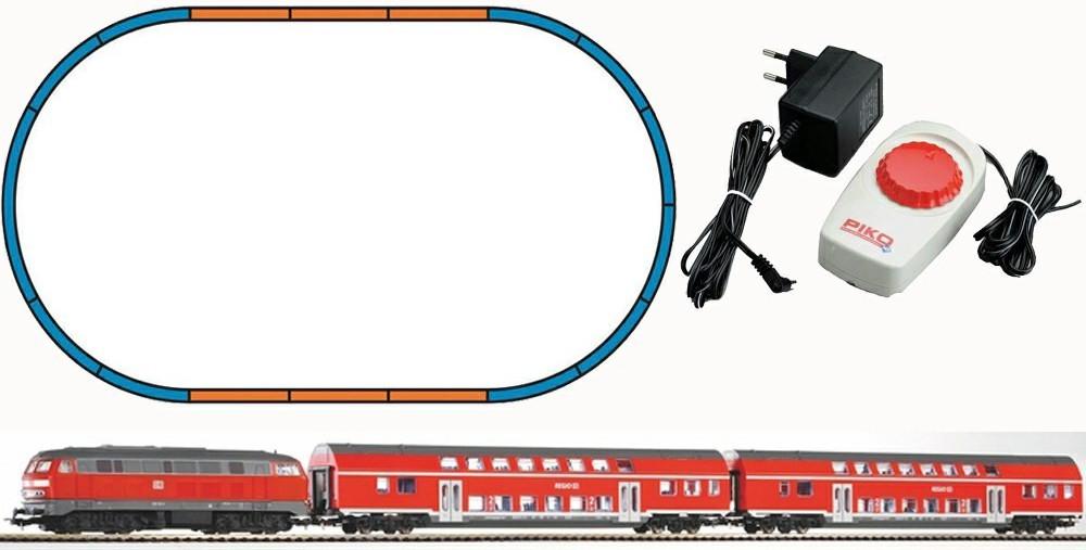 Piko Start-Set BR 218 + 2 Doppelstockwagen DB Regio (57150)