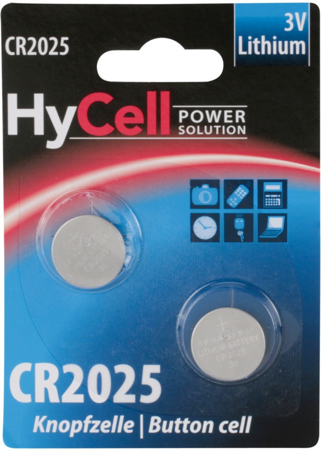 Image of HyCell 2x Power Solution CR2025 Lithium 3V