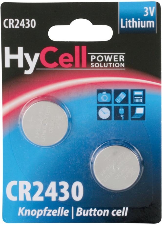 Image of HyCell 2x CR2430 Lithium 3V