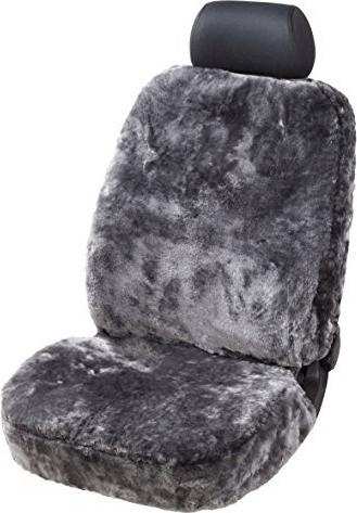 Walser Lammfell Sitzbezug schwarz