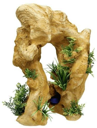 Nobby Aqua Ornaments ´´Lava-Fels´´ mit Pflanzen...
