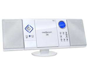 Schwarz Denver MC 5220 Stereoanlage Kompaktanlage MP3 CD-Player AUX UKW//MW-Radiotuner Radio- oder CD Wecker