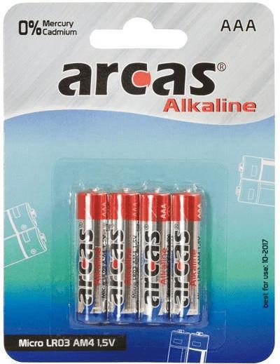 Arcas 4-40x Alkaline LR03 Micro AAA 1,5V