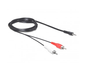 Cinch-Stecker 2 m Goobay 50048 BNC//Cinch-Adapterkabel BNC-Stecker