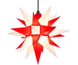 Herrnhuter Stern A4 (40cm) weiß/rot