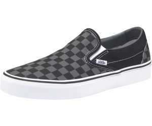 black and grey checkered slip on vans