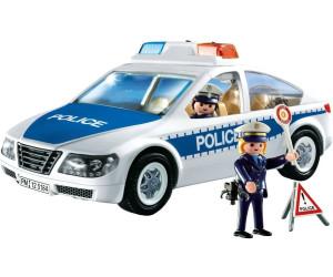 playmobil voiture de police avec lumi res clignotantes 5184 au meilleur prix sur. Black Bedroom Furniture Sets. Home Design Ideas