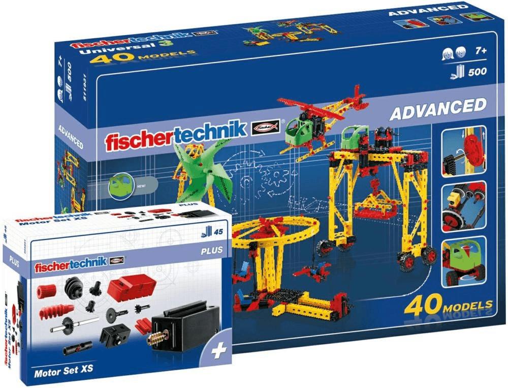 Fischertechnik Advanced Universal 3 und Motor-Set XS Paket (516187)