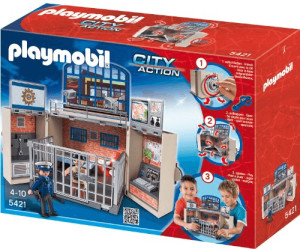 playmobil coffret poste de police 5421 au meilleur. Black Bedroom Furniture Sets. Home Design Ideas