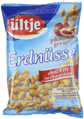 Ültje Erdnüsse pikant gewürzt, ohne Fett geröst...