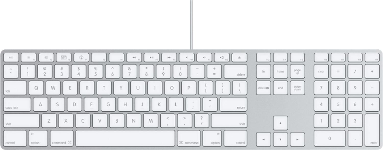 Apple Tastatur mit Ziffernblock HU
