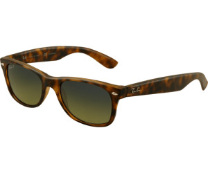 61575eb1164322 Ray-Ban New Wayfarer RB2132 894 76 (matte havana blue green mirror  polarized)