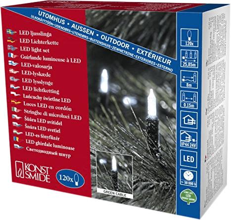 Konstsmide LED Mini-Lichterkette weiß 120er (6060-200)